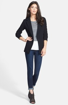 James Perse Jacket, Hinge® Top & Paige Denim Skinny Jeans
