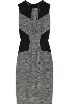 Jason Wu Mesh-paneled tweed dress