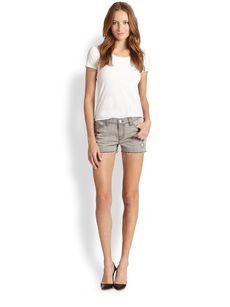 J Brand Distressed Denim Cut-Off Shorts
