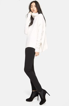 Nordstrom Signature Turtleneck & St. John Collection Leggings