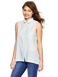 Sleeveless chambray tunic