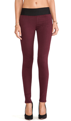Paige Denim Glam Rock Legging in Burgundy