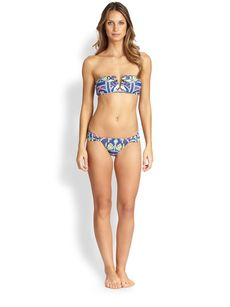 Mara Hoffman Garlands Ruched Bikini Bottom