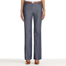 Cotton and Linen Modern Fit Pants (Plus)