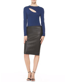 Stretch Leather Tube Skirt   Stretch Leather Tube Skirt