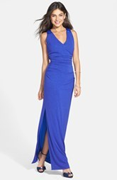 Laundry by Shelli Segal Embellished Racerback Jersey Gown