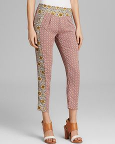 Free People Pants - Mixed Print Easy Pleat