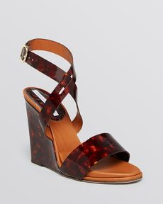 DIANE von FURSTENBERG Open Toe Platform Wedge Sandals - Wilma