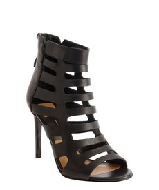 Dolce Vita black leather 'Hettie' cutout detail open toe booties