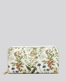 Tory Burch Wallet - Robinson Printed Zip Continental
