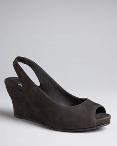 Eileen Fisher Peep Toe Pumps - Crescent Wedge