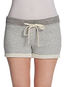 James Perse Contrast Waistband Cuffed Shorts