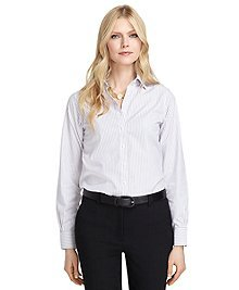Non-Iron Classic Fit Triple Dash Stripe Dress Shirt