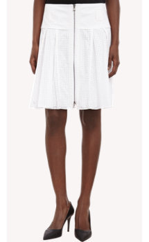 Proenza Schouler Dot-Perforated Poplin Skirt