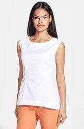 Lafayette 148 New York 'Jayla' Stretch Cotton Top