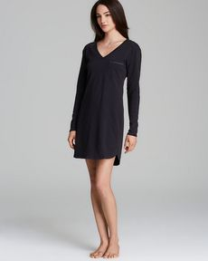 Calvin Klein Underwear Long Sleeve Cotton Nightgown