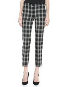 Michael Kors Taos Plaid Samantha Skinny Pants