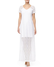 Tommy Bahama Long Lace Coverup T-Shirt Dress
