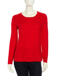Joie Mosselle Long-Sleeve Soft Knit Sweater, Carnelian