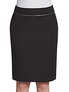 Calvin Klein Zip-Detailed Pencil Skirt