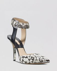 Michael Kors Pointed Toe Pumps - Alanna Ankle Strap High Heel