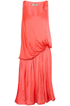 Lanvin Draped brushed-satin dress