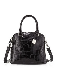 Furla Victoria Small Domed Satchel Bag, Onyx