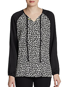 Ellen Tracy Animal Print Top