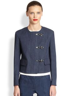 Akris Punto Cropped Denim Jacket