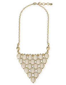 SET STONE BIB NECKLACE