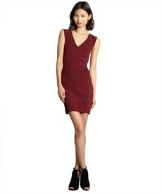 French Connection shiraz sleeveless v-neck 'Rita' stretch knit eyelash detail dress