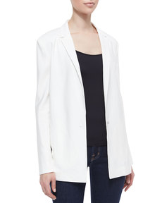J Brand Ready to Wear Sharman Sheer-Back Long Blazer