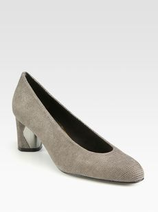 Stuart Weitzman Solar Textured Leather Pumps