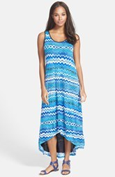 kensie 'Drippy Stripes' High/Low Maxi Dress