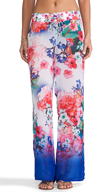Nanette Lepore Fleur de la Mer Beach Pants in Blue