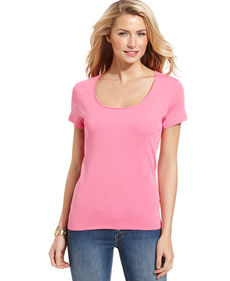 Charter Club Top, Short-Sleeve Scoop-Neck