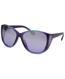 Diesel Women's Square Translucent Violet and Blue Sunglasses