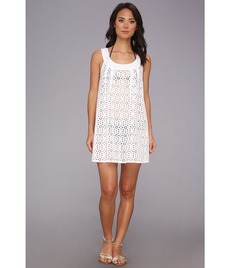 Shoshanna Wilson Lake Eyelet Sleeveless Beach Dress Cover Up