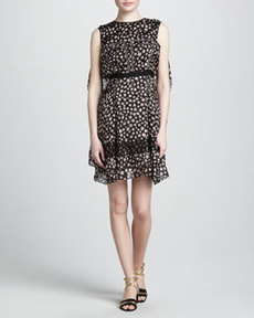 JASON WU Print Dress with Flyaway Back