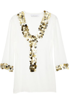 T-Bags Paillette-embellished top