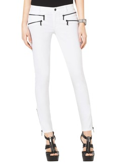 MICHAEL Michael Kors Skinny Ankle Zip Jeans