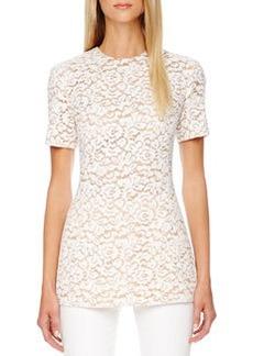 Michael Kors Short-Sleeve Lace Top