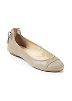 """Calvin Klein """"Priya"""" Metallic Ballet Flats"""
