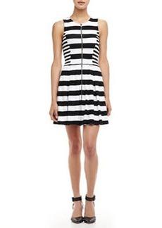 Ella Moss Courtney Striped Zip Dress