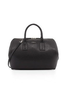 Furla Paper Moon Saffiano Zip Satchel Bag, Onyx