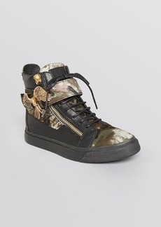 Giuseppe Zanotti Lace Up High Top Sneakers - Devore