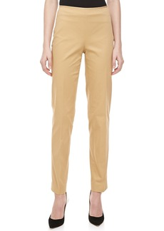 Michael Kors Relaxed Stretch-Twill Pants, Sandstone