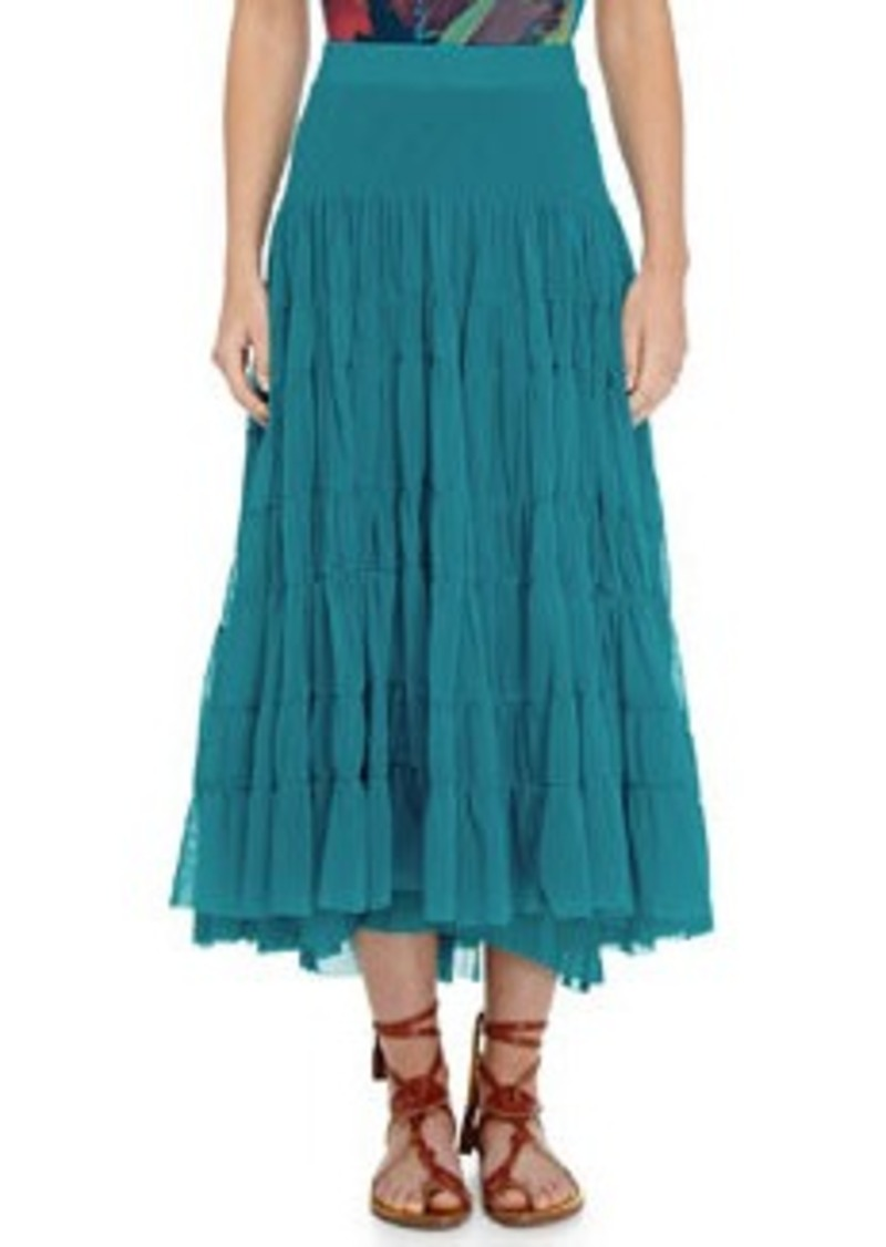Tiered Tulle Maxi Skirt   Tiered Tulle Maxi Skirt