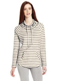 Calvin Klein Performance Women's Boucle Stripe Funnel Neck Sweatshirt