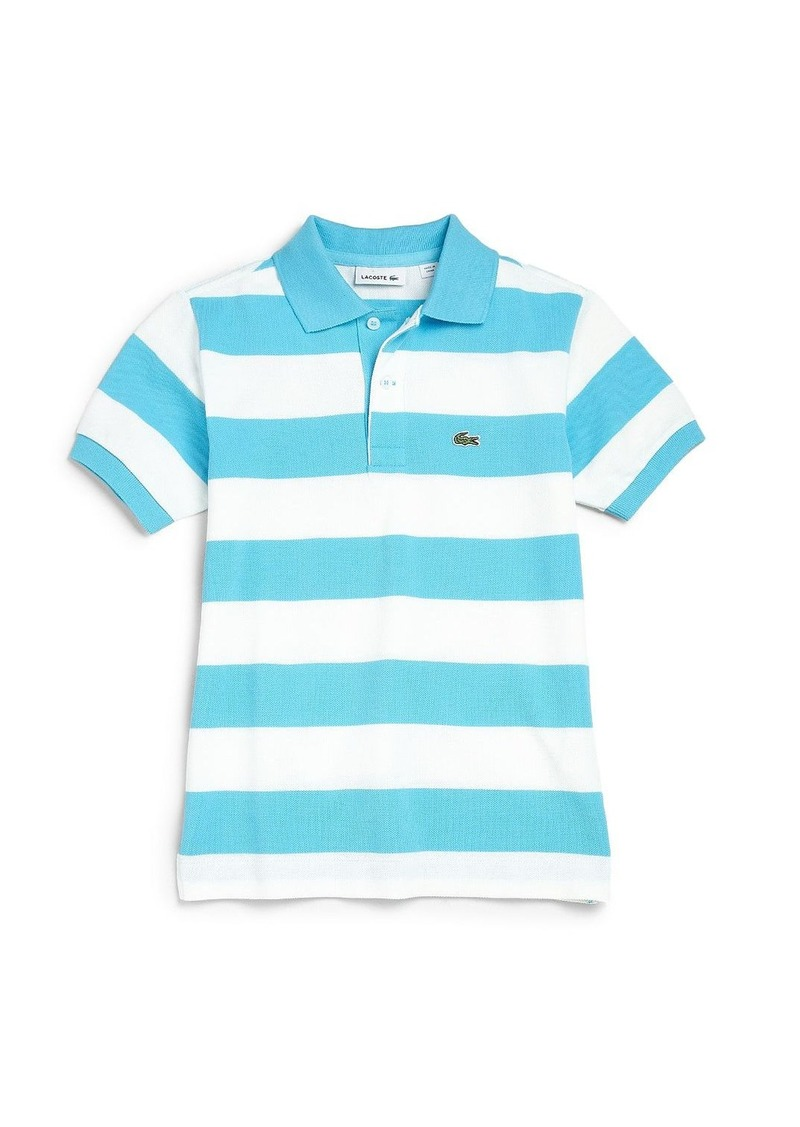 Lacoste lacoste boy 39 s striped pique polo shirt shirts for Lacoste stripe pique polo shirt